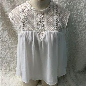 Zara beautiful vintage inspired sleeveless top